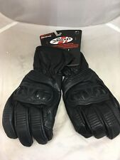 JOE ROCKET MENS SONIC SPORT BLACK LEATHER MOTORCYCLE GLOVES  SIZE  SMALL