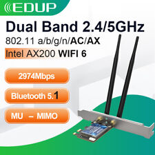 3000Mbps Intel AX200 WiFi 6 802.11 ax PCI-E Wireless  Adapter Card Bluetooth 5.1