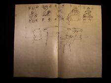 The Game of Poker 1946-59 Original Ink Sketch By C. Kelm
