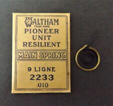 Antique Pioneer Resilient 2233 9 Ligne Waltham Mainspring NOS