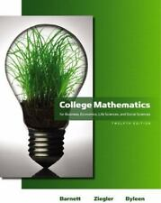 College Mathematics for Business, Economics, Life Sciences, 12th Edition
