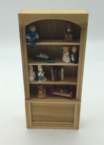 Dolls House Bookcase With Toys