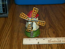 Vintage Cast Metal Hand Painted Windmill Figurine - Made In France !