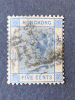 1880 HONG KONG STAMP SC# 40,QUEEN VICTORIA 5c