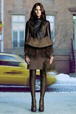 New Givenchy Shearling, Mink and Wool Peplum Jacket - RRP £5300