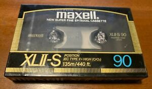 NEW Maxell XLII-S 90 HIGH BIAS Audio Cassette Tape -  SEALED