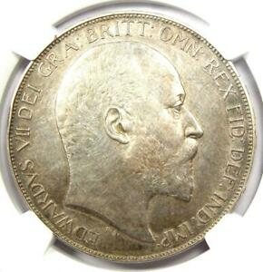 1902 Great Britain England PROOF Edward VII Crown Coin - NGC Proof AU Details