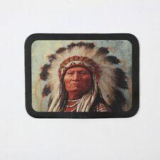 Biker Chopper Native American Chief Indianer Echt Leder Aufnäher Leather Patch