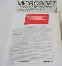 Microsoft WINDOWS 2000 CAL  ITALIANO -  5 CLIENT Device LICENSE - NEW