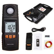 Digital Lux Light Meter Save Data Log Illuminance Tester Photography 200,000 LUX