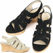 Wedge Lace Up Synthetic Sandals & Flip Flops for Women
