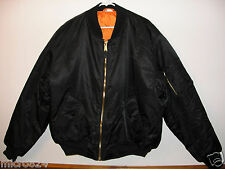 Bomber Jacket Black Fox Outdoor Nylon Military Men's Flight MA-1 Size 2XL NEW