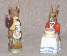 2 Vintage Bunnykins Royal Doulton Tally Ho DB12 & Happy Birthday Bunny DB21 1982