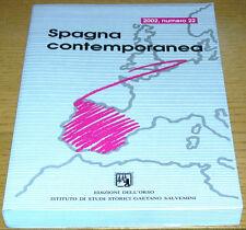 SPAGNA CONTEMPORANEA 2002, numero 22 RIVISTA STORIA