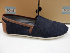 TOMS MENS SHOES CLASSIC DARK DENIM WITH SYNTHETIC LEATHER TRIM SIZE 10
