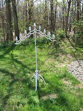 Vintage Adjustable Wrought Iron Floor Candelabra Candle Stand Wedding- Gothic