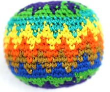 One Hacky Sacks Juggling Balls Footbag Zig Zag Made In Guatemala Magic Toy