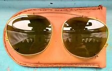 1960's Rayban Clip-On Bausch & Lomb vintage 44mm 18K Gold Plated G15