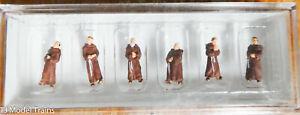 Preiser N #79045 Community People -- Franciscan Friars (Painted)