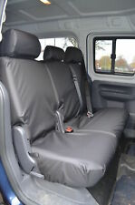 Volkswagen Caddy 2010+ Maxi Life Kombi Rear 2nd Row Black Tailored Seat Covers