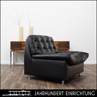 60er Lounge Easy Chair | Ledersessel | Mid Century | Vintage Studio Sessel | TOP