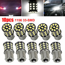 10x Very Bright White 1156 Rv Trailer 33-Smd Led 1141 Interior Light Bulbs Lamps