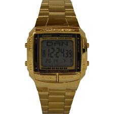 Casio DB-360G-9A Casual Gold Multi-lingual Digital Watch w/ Databank Chronograph