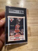 Michael Jordan SGC 7.5 NM 1990 Fleer #26 Last Dance Hedge INVEST Chicago Bulls
