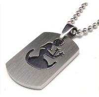 Halskette, Anhänger Silber Sternzeichen Jungfrau, 2d mit Kette
