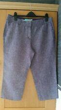Boden Linen Regular Capri, Cropped Trousers for Women