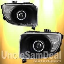 FOR 03-06 HONDA ELEMENT HALO RIM ANGEL EYE PROJECTOR HEADLIGHTS CLEAR BLACK PAIR
