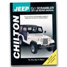 Chilton Repair Manual for 1971-1983 Jeep CJ5 - Shop Service Garage Book ri