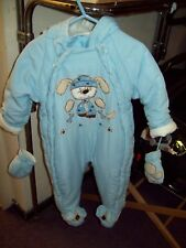 6f7e8812d BABY ANTARCTICA BLUE SNOWSUIT MITTS & HOOD 9 to 12 mths ...