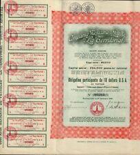 "MEXICO OIL Compania Mexicana de Petroleo ""La Territorial "" 1930 w coupons"