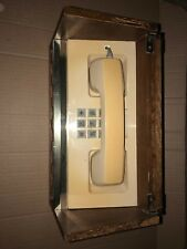 Vintage MCM Walnut Case Desk Phone Pacific Telephone CS Ivory Western Electric