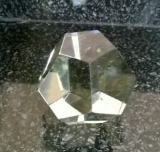 Heavy Clear Glass Hexagonal Shaped Paperweight Loose