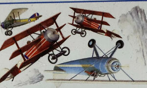 Vintage AIRPLANES wall stickers 22 Decals Planes Clouds Room Decor Variety Wow!