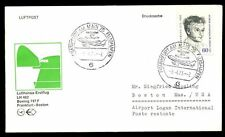 Germany 1973 First Flight Cover FFC, Frankfurt - Boston #C4897
