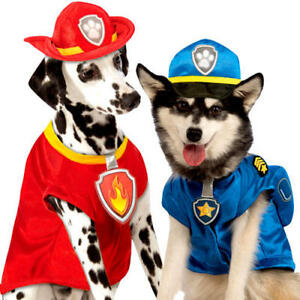 Paw Patrol Dogs Fancy Dress TV Cartoon Charcater Animal Puppy Pet Costume Outfit