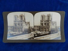 STEREOVIEW - H.C. WHITE CO - 1939 NOTRE DAME CATHEDRAL PARIS - TOP !