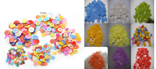 Buttons bulk 40~100 Mix Craft sewing multi single colour 9~23mm school