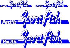 Pacific Sportfish Stickers 2 x 750 mm x 200 mm, 2 x 350 mm x 100 mm Marine Grade