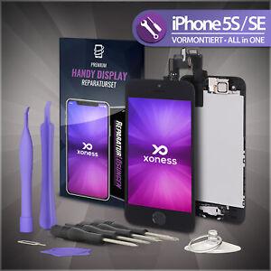 Display für iPhone 5S / SE RETINA LCD Glas VORMONTIERT KOMPLETT Front SCHWARZ