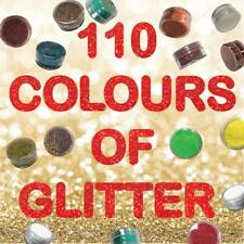 110 Colours of Fine Glitter Dust for Nails Art Face Body Eye Shadow Craft Paint
