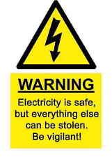 A5 Comedia Lugar De Trabajo Electricidad SEGURIDAD ADHESIVO - peligro ACCIDENTE