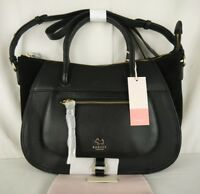 """Radley """"Highgate Wood"""" Black Leather and Suede Multiway Cross Across Body Bag"""