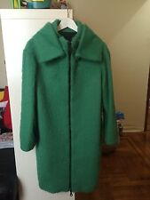 JO NO FUI coat Green Emerald size 42 Us 4 zip, pockets, High Collar Black friday