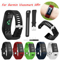 Replacement Soft Silicone Bracelet Strap WristBand for Garmin Vivosmart HR+ Band