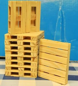 WOODEN PALLETS (TEN) 1:24 (G) SCALE  READY FOR DISPLAY!