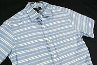 Banana Republic Striped Summer Cotton Soft Wash Button Up Shirt Blue Mens S